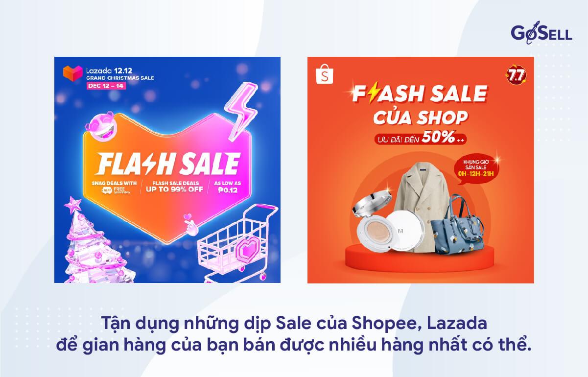Tận dụng những đợt Sale của Shopee, Lazada
