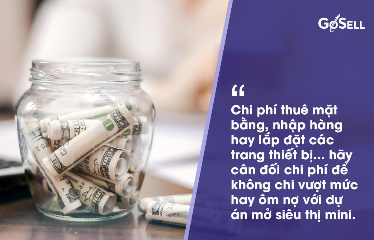Cân đối vốn và chi phí khi kinh doanh siêu thị mini